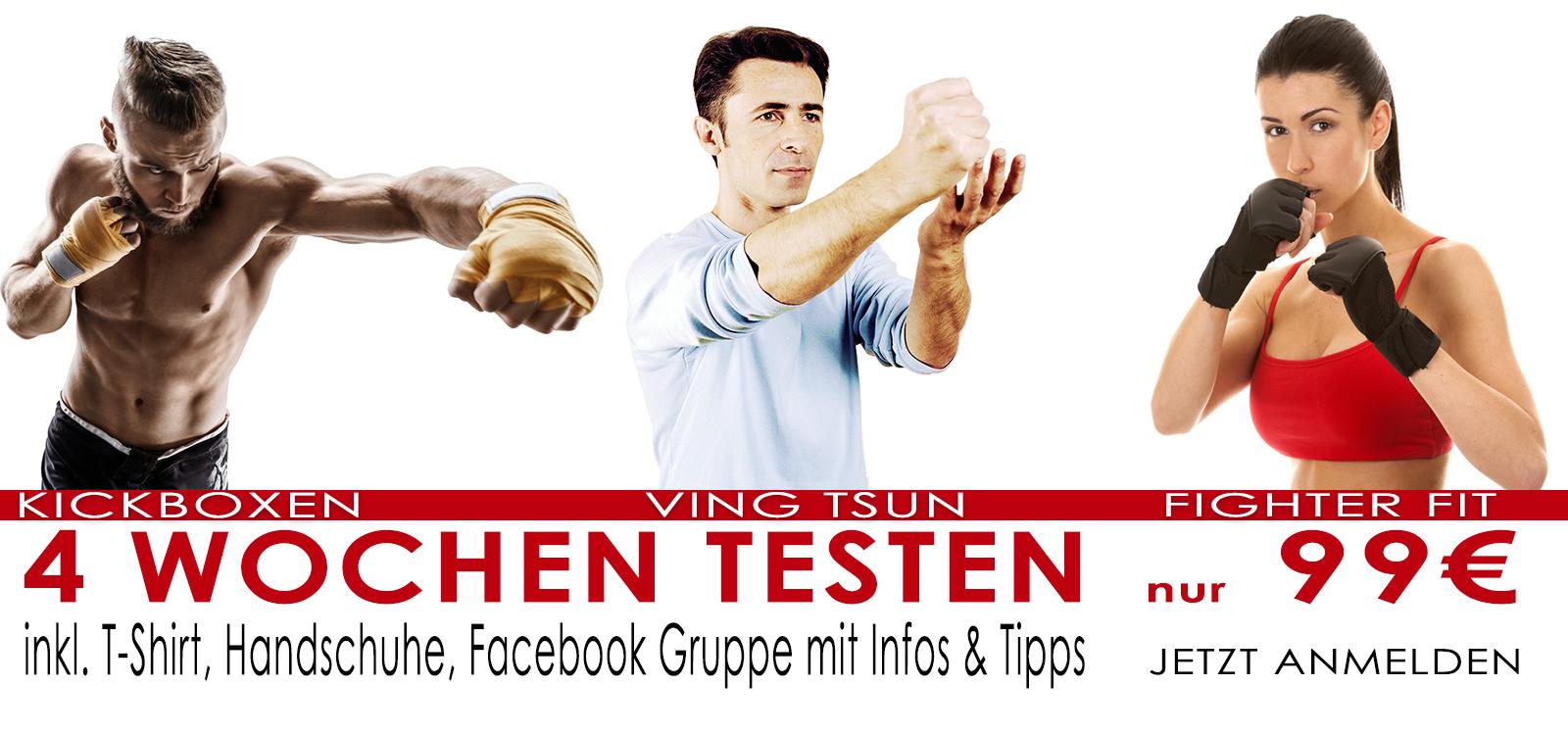 Kickboxen - Ving Tsun - Fighter Fit 4 Wochen Testen